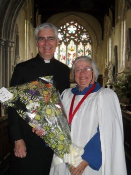 Bill Rogers Assistant archdeacon Salisbury Elaine hicks-Arnold organist 25 years